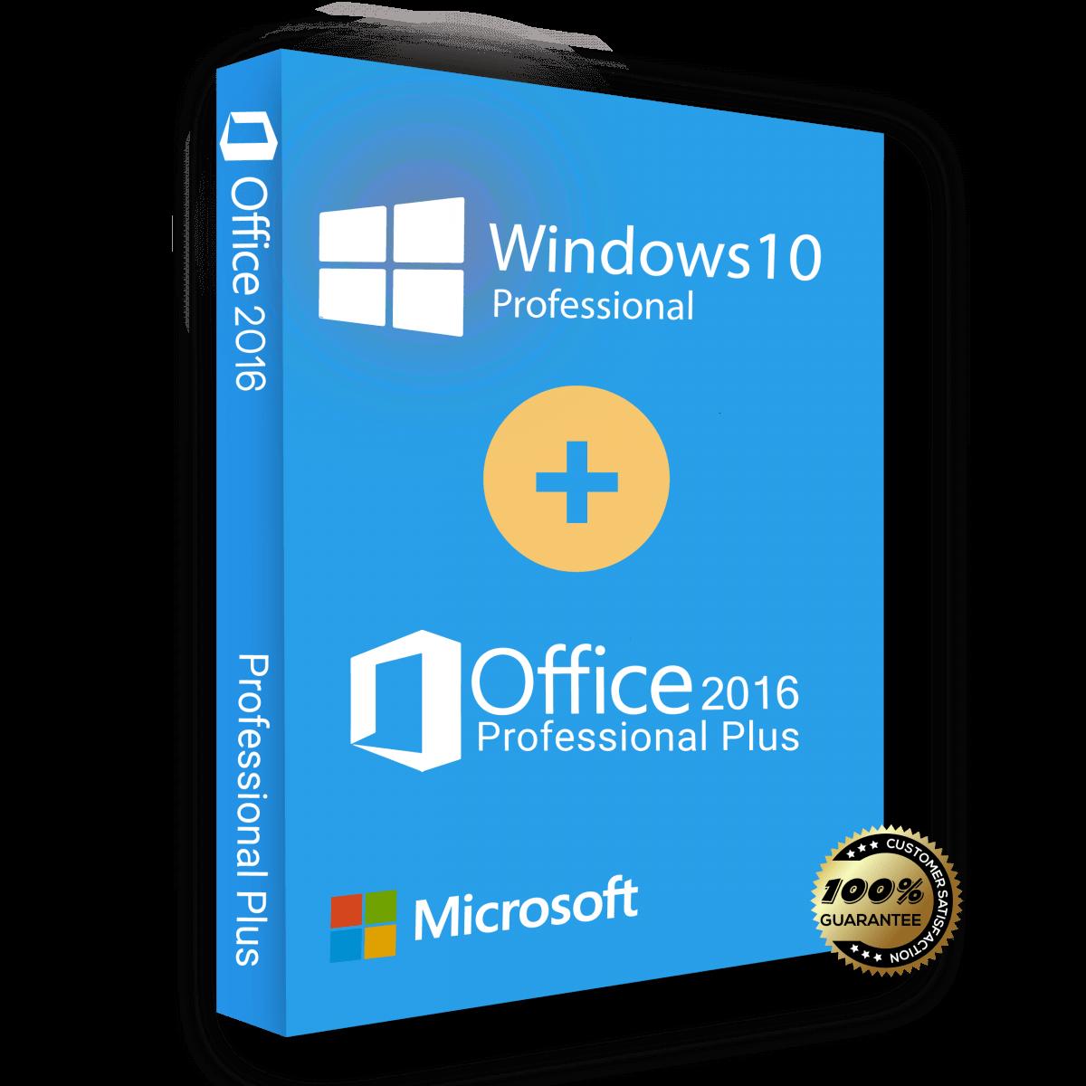 Windows 10 Pro and Office 2016 pro